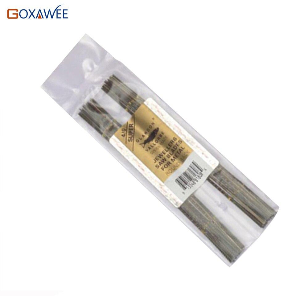 GOXAWEE 144 unids/pack de fabricación de la joyería de Metal de corte de sierra herramientas tenar de tenar GoldSmith de la herramienta 7/0 de 8/0
