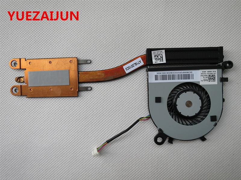 NEW/ORIG dissipador de calor ventilador de refrigeração para Dell XPS13 9343 9350 9360 laptop cooler 06YT3R 6YT3R XHT5V 0XHT5V DFS150505000T FFH0