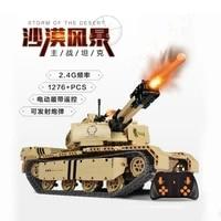 military rc building blocks 9801 tank m1a2 blocks 1276pcs army motorized tank remote control diy build block brick toys