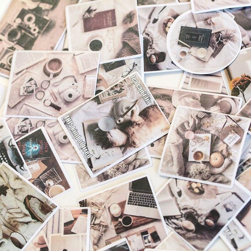 60 pcs/lot coloré été papier papeterie autocollants Srapbooking Album journal bricolage décoration étiquette autocollant école bureau Supples
