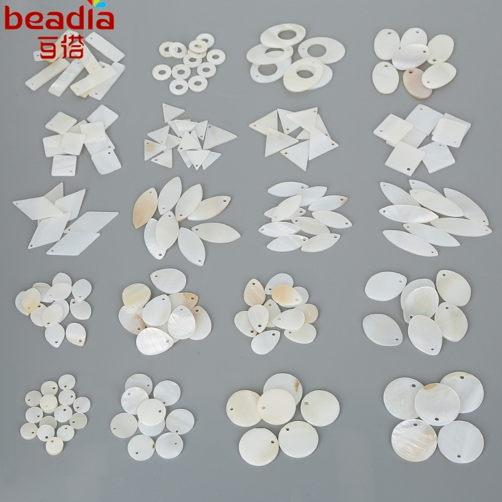 10-20 unids/lote colgante de concha de perla Natural Vintage tamaño mixto elige para Concha colgantes abalorios joyas
