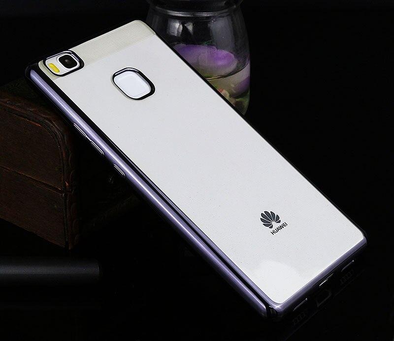 Poszycie telefon skrzynka dla huawei p9 lite pokrywa silikonowa ultra cienkie miękkie przezroczysty tpu tylna pokrywa dla huawei p9 lite luksusowe złota 10