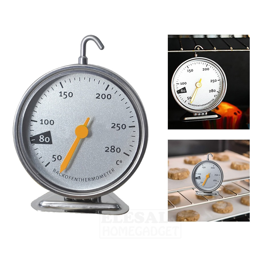 New Stainless Steel Oven Thermometer Hang Or Stand Large Dial Baking BBQ Cooking Meat Food Temperatu