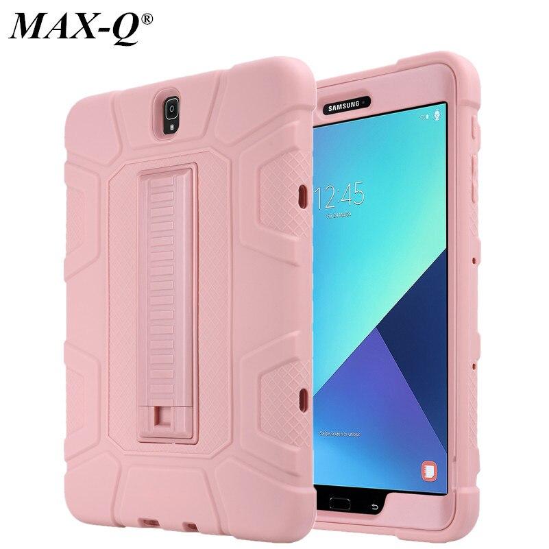 Para Samsung Galaxy Tab S3 caso de la tableta de 9,7 pulgadas de T820 gota resistir híbrido armadura de silicona para PC de la cubierta de la piel para Samsung Galaxy tab S3 9,7 SM-T825
