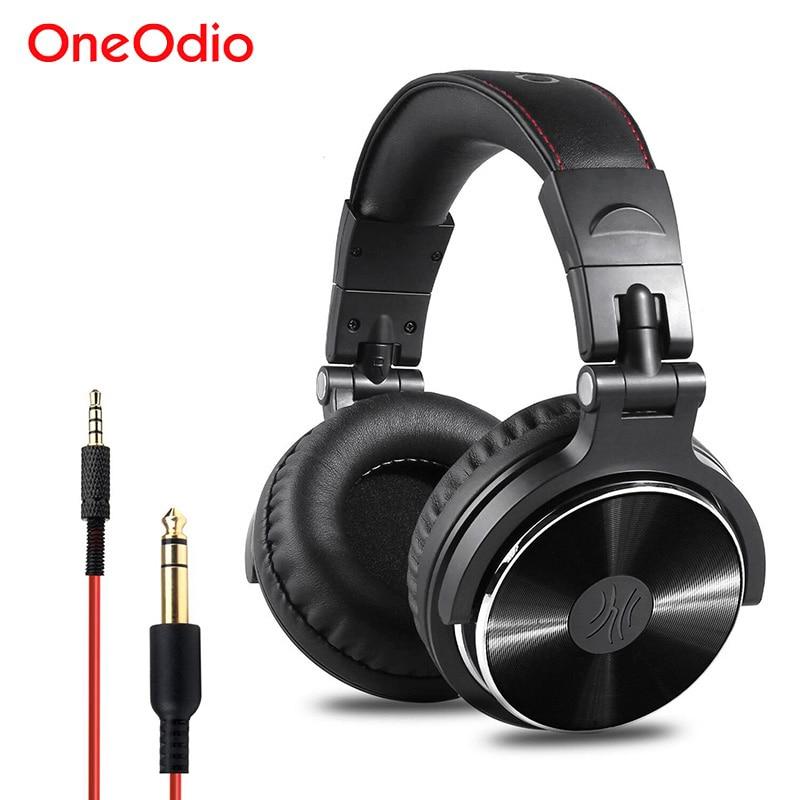 Auriculares Oneodio con Monitor de grabación Hifi, auriculares profesionales de estudio para DJ, auriculares estéreo con graves para Xiaomi iPhone con micrófono