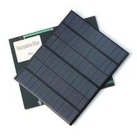 3.5W 18V Polycrystalline Solar Cells Solar Panels Solar Module For Charging 12V Battery DIY Solar System Free shipping