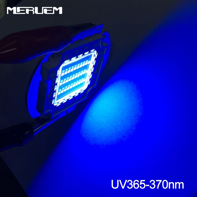 Ультрафиолетовые фиолетовые светодиодные ультрафиолетовые лампы чипы 365nm 370nm 395nm 400nm 10W 20W 30W 50W 100W высокой мощности