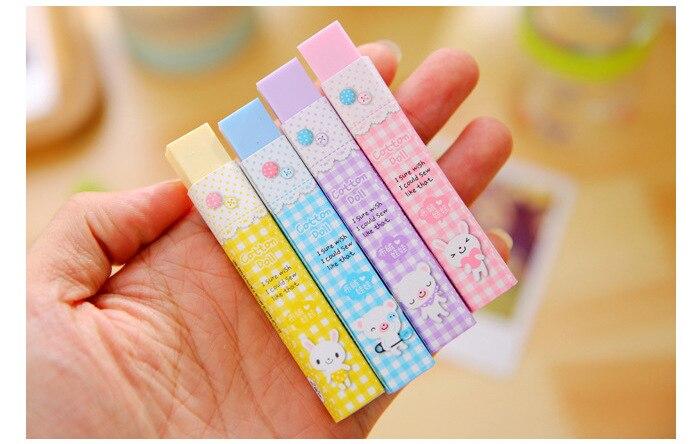 1 pcs 큐브 pencial kawaii 지우개 귀여운 학교 용품 편지지 지우개 수정 제품 한국어 papelaria