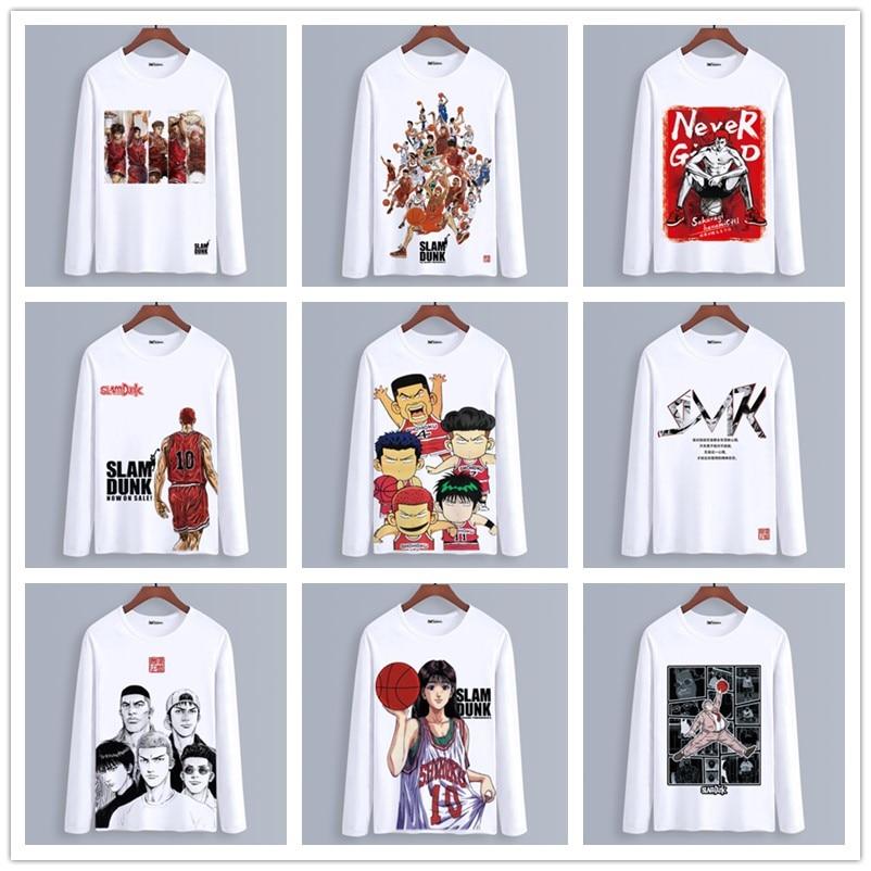 ¿Primavera otoño manga larga Camiseta anime SLAM DUNK ropa adultos Unisex niño Casual de poliéster de moda T camisa Cosplay de la camiseta?