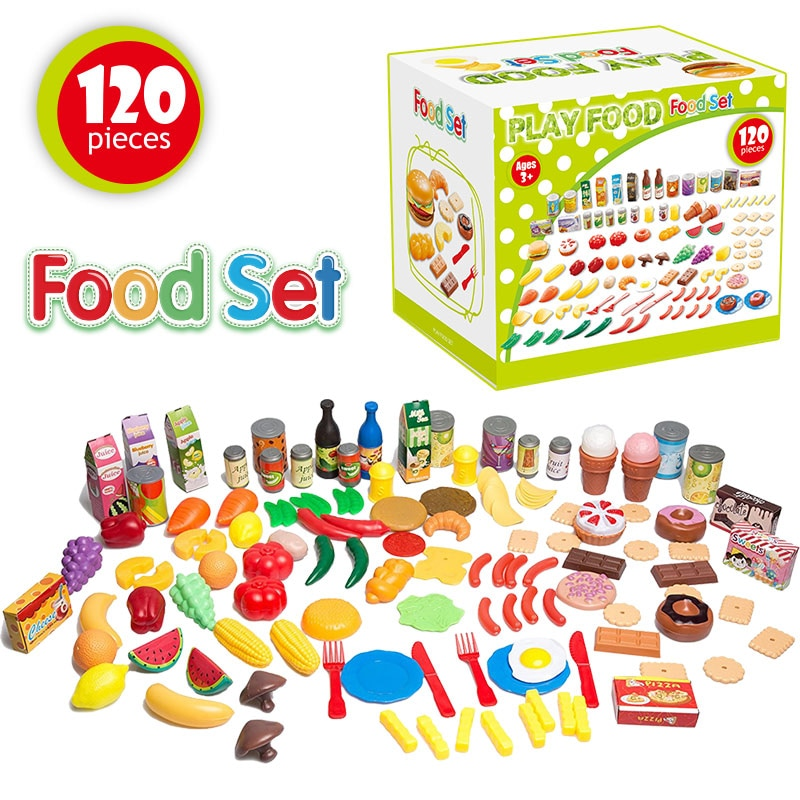 Keuken Speelgoed Set Keukengerei Koken Potten Pannen Voedsel Gerechten Mini Simulatie Kunstmatige Vruchten Kids Kookgerei Pretend Play Toys