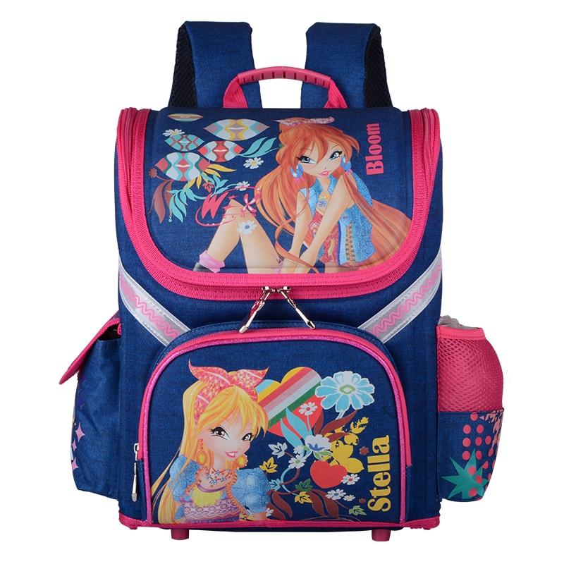 Mochila escolar para niñas mochilas ortopédicas Mochila de dibujos animados para niñas