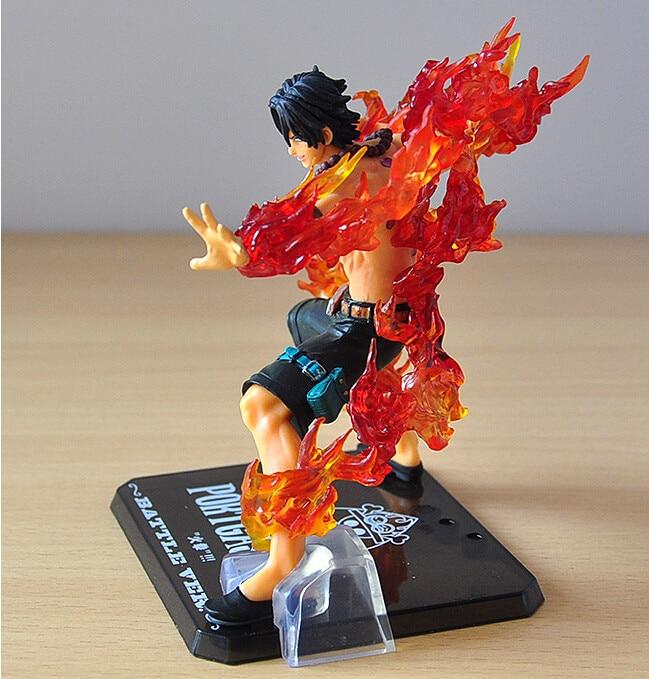 14 centímetros One Piece ZERO Portgas D Ace Batalha Ver. Lanceta PVC Brinquedos Action Figure Modelo com Caixa Original
