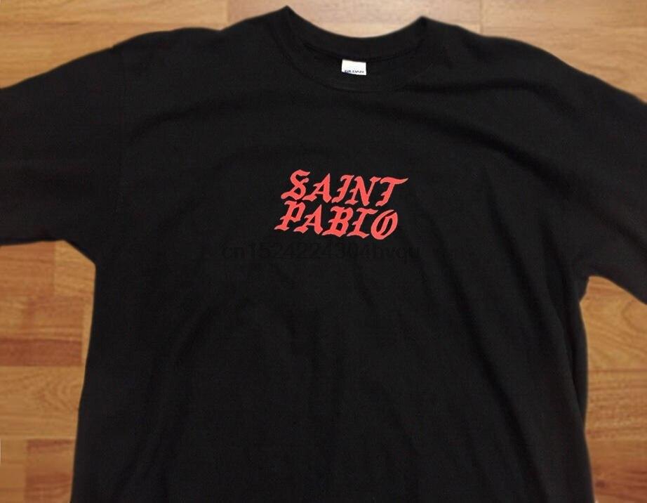Kanye West KIM K Tennis Black  shord Sleeve T Shirt Saint Pablo Tour Merch (LARG