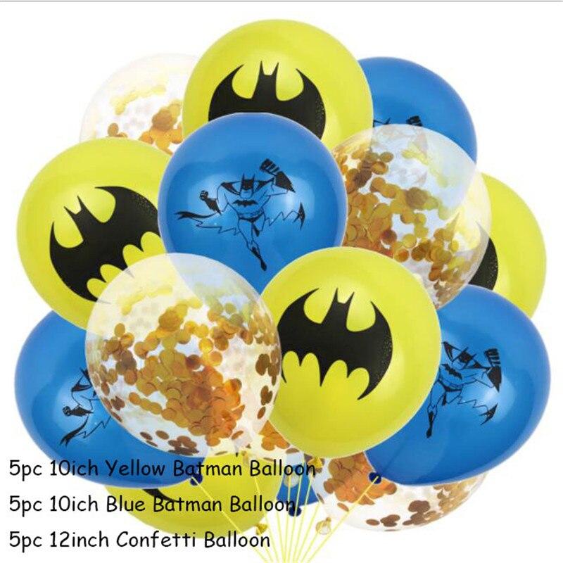 15 шт./лот, латексные воздушные шары Бэтмена, игрушки летучей мыши, мяч для маленьких мальчиков и девочек, тематическая вечеринка на день рождения, украшения для детей, лучший подарок, баллоны
