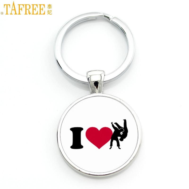 TAFREE Brand novelty fashion Love Judo Karate keychain exquisite popular women men casual sports key chain ring jewelry SP578