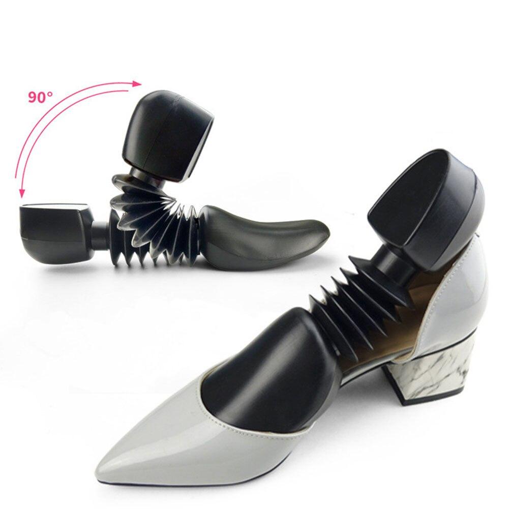 1 par de soporte de resorte de plástico para árbol de zapatos para botas negro, expansor de zapatos de tacón alto, moldeador automático, soporte para Zapatero