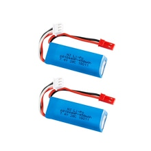 7.4V 450mAh 20C Lipo Battery for WLtoys K969 K979 K989 K999 P929 P939 RC Car Parts 2s 7.4v Battery 2