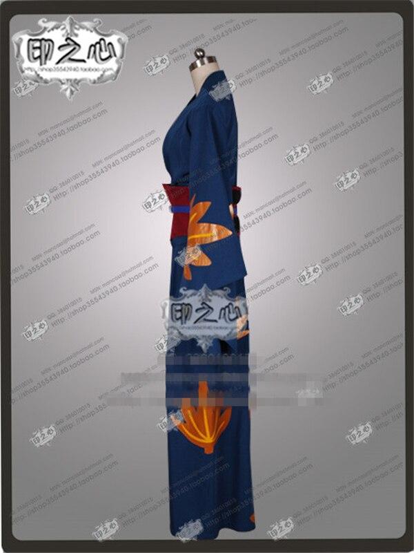 Ropa nueva Hot Anime Gintama Tsukuyo uniforme tipo Kimono traje de cosplay personalizado de impresión Kimono + Blet C