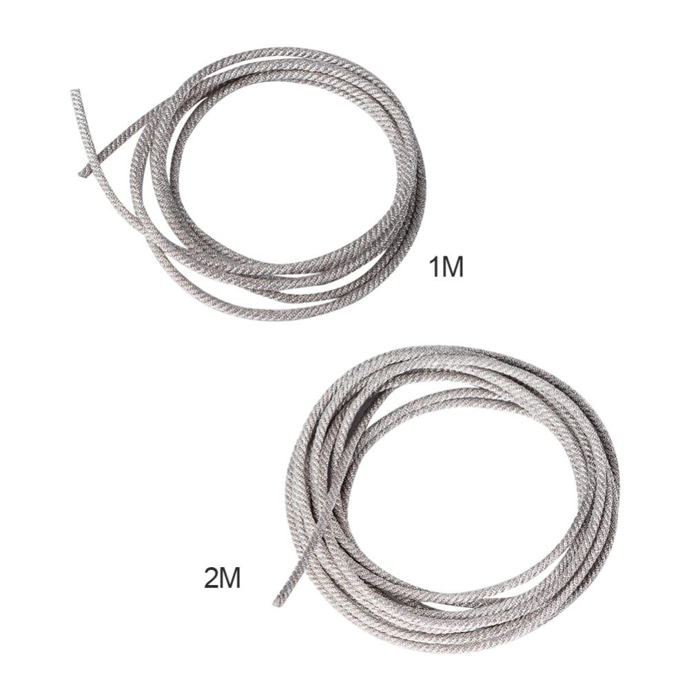 Nuevo altavoz de alambre plateado trenzado resistente a altas temperaturas de 32 filamentos, reparación de cable de plomo para altavoces profesionales de 18 pulgadas subwoofer