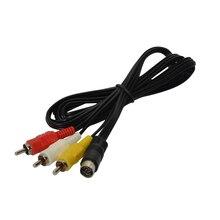 10 pièces par lot dernière prise nickelée câble AV pour SEGA Saturn RCA cordon pour SS