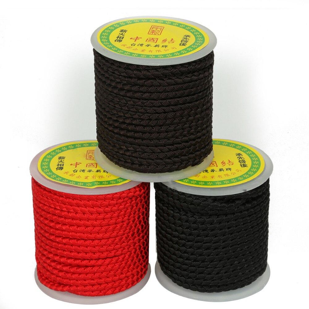 Модный дизайн 3 цвета на выбор 12 ярдов (4 мм) шнур с китайскими узелками для