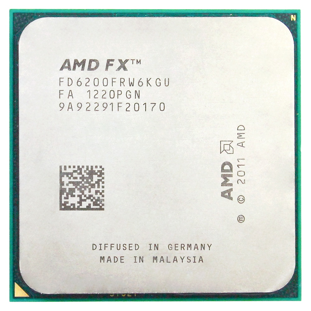 AMD FX 6200 AM3 + 3.8 GHz/8 MB/125 واط ستة الأساسية معالجات سطح المكتب وحدة المعالجة المركزية المقبس AM3 +