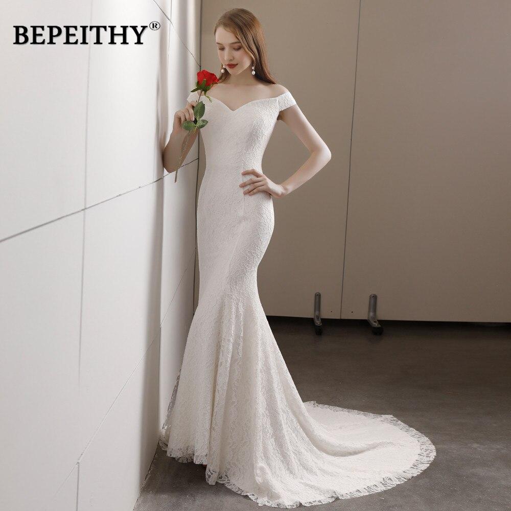 Vestido De Noiva Mermaid Wedding Dress Sweetheart Court Train Cheap Sales Lace Beach Wedding Dresses 2020 Hot Sale