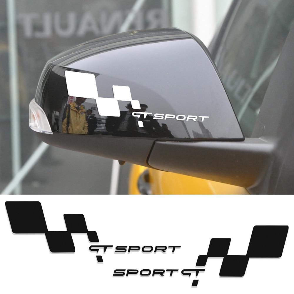Espelho retrovisor lateral etiqueta do carro para renault clio twingo megane 2 espanador fluência laguna latitude cênica reno logan acessórios