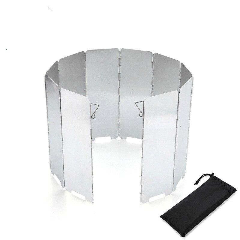 10 Uds. Tornillo deflector de viento para acampar al aire libre, quemador de aleación de aluminio, estufa de fuego a prueba de agua, protector de pantalla, herramientas para fogatas