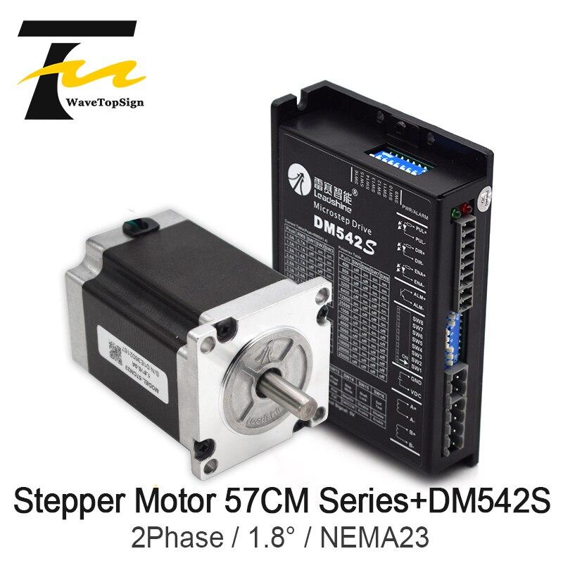 Leadshine 2 Fase serie 57 NEMA23 paso conjuntos para Motor 57CM06 57CM13 57CM23 57CM26 + conductor DM542S tensión de entrada VDC20-50V