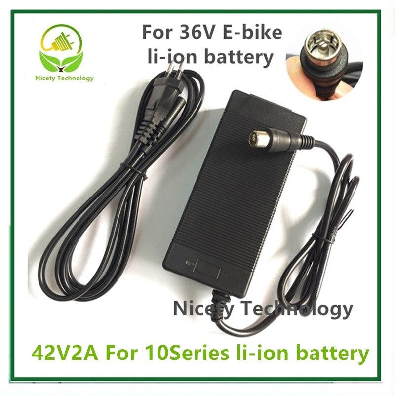 42V2A מטען 42v 2A חשמלי אופני ליתיום סוללה מטען עבור 36V ליתיום סוללה חבילה RCA תקע 42V2A מטען