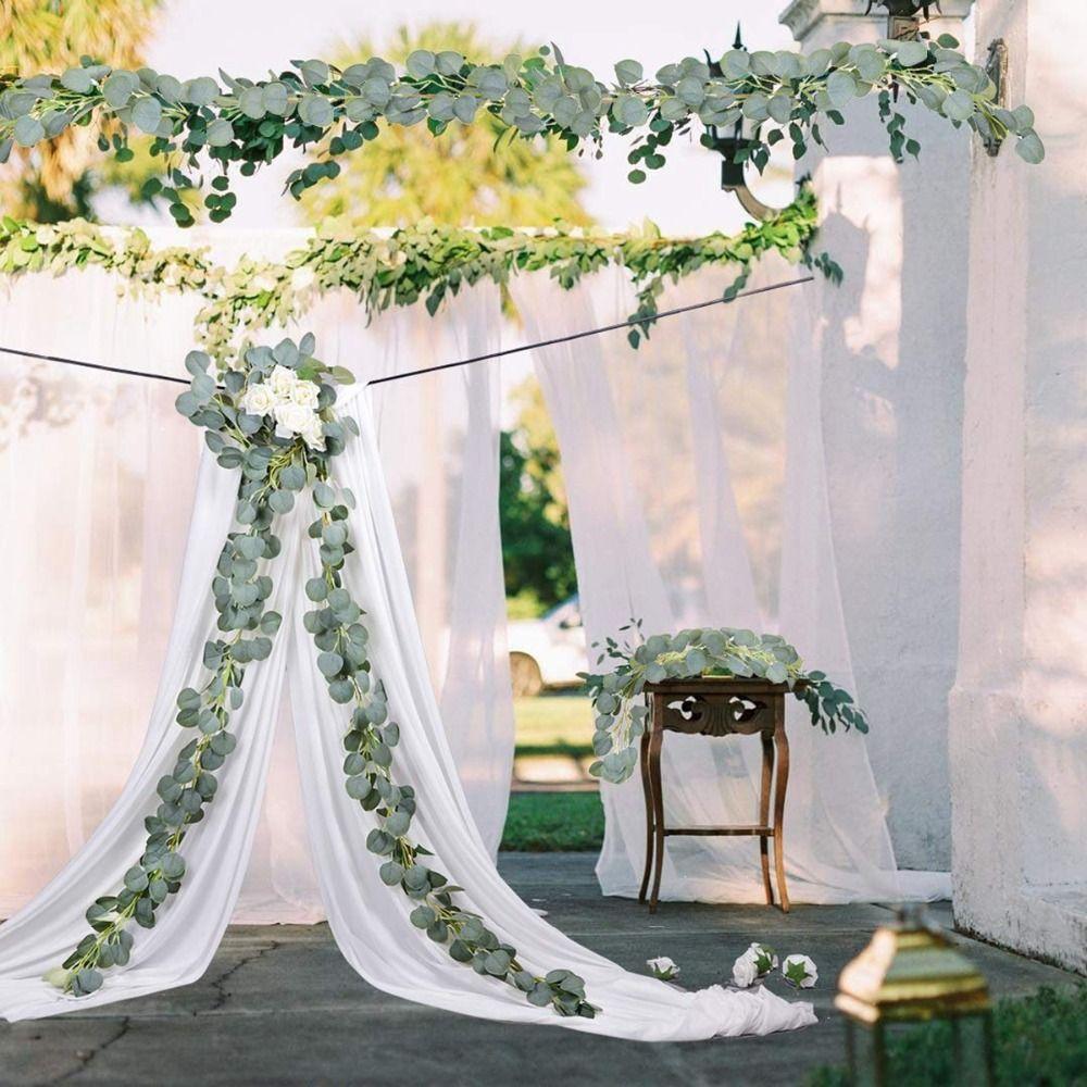 Decoração de casamento Verde Artificial Eucalipto Plantas Falsas Vinhas Rattan Artificial Ivy Guirlanda Decoração Da Parede Jardim Vertical