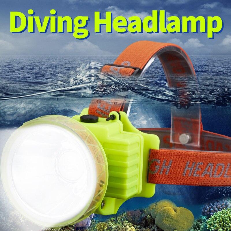 SHENYU LED lámpara de buceo impermeable lámpara recargable USB 500 Lumen XM-L 60m Luz de natación linterna SUMERGIBLE