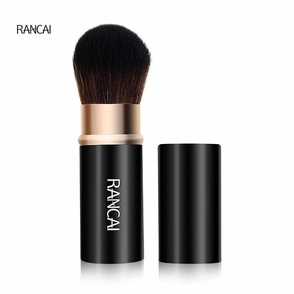 купить RANCAI 1pcs Retractable Makeup Brushes Powder Foundation Blending Blush Face Kabuki Brush Maquiagem Make up Cosmetic Tools в интернет-магазине