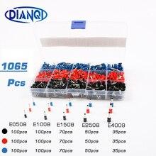 1065 pièces/ensemble 3 couleurs 22 ~ 12AWG fil cuivre à sertir connecteur isolé cordon broche fin Terminal Bootlace cooper embouts kit ensemble laiton