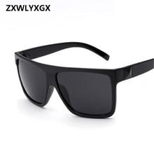 ZXWLYXGX Europe and the United States retro trend sunglasses large box sunglasses couple sunglasses