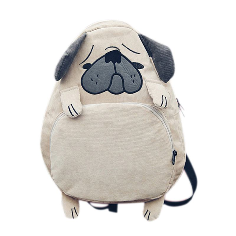 TFTP-mochila escolar para mujer, bonita mochila para perro, mochila Vintage para mujer, para cuaderno, para escuela de niñas (caqui)