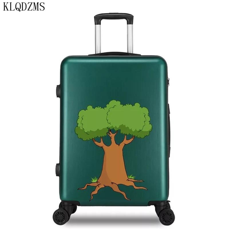 KLQDZMS 20/22/24/26 pulgadas de moda de gran capacidad ABS + PC rodante equipaje spinner bolsa de viaje maleta sobre ruedas