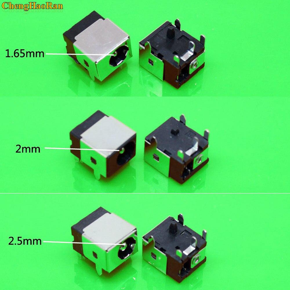 ChengHaoRan 1,65 мм/2,0 мм/2,5 мм разъем питания постоянного тока для ноутбука HP/Asus/Acer/Lenovo 1,7 мм DC jack разъем питания для ноутбука