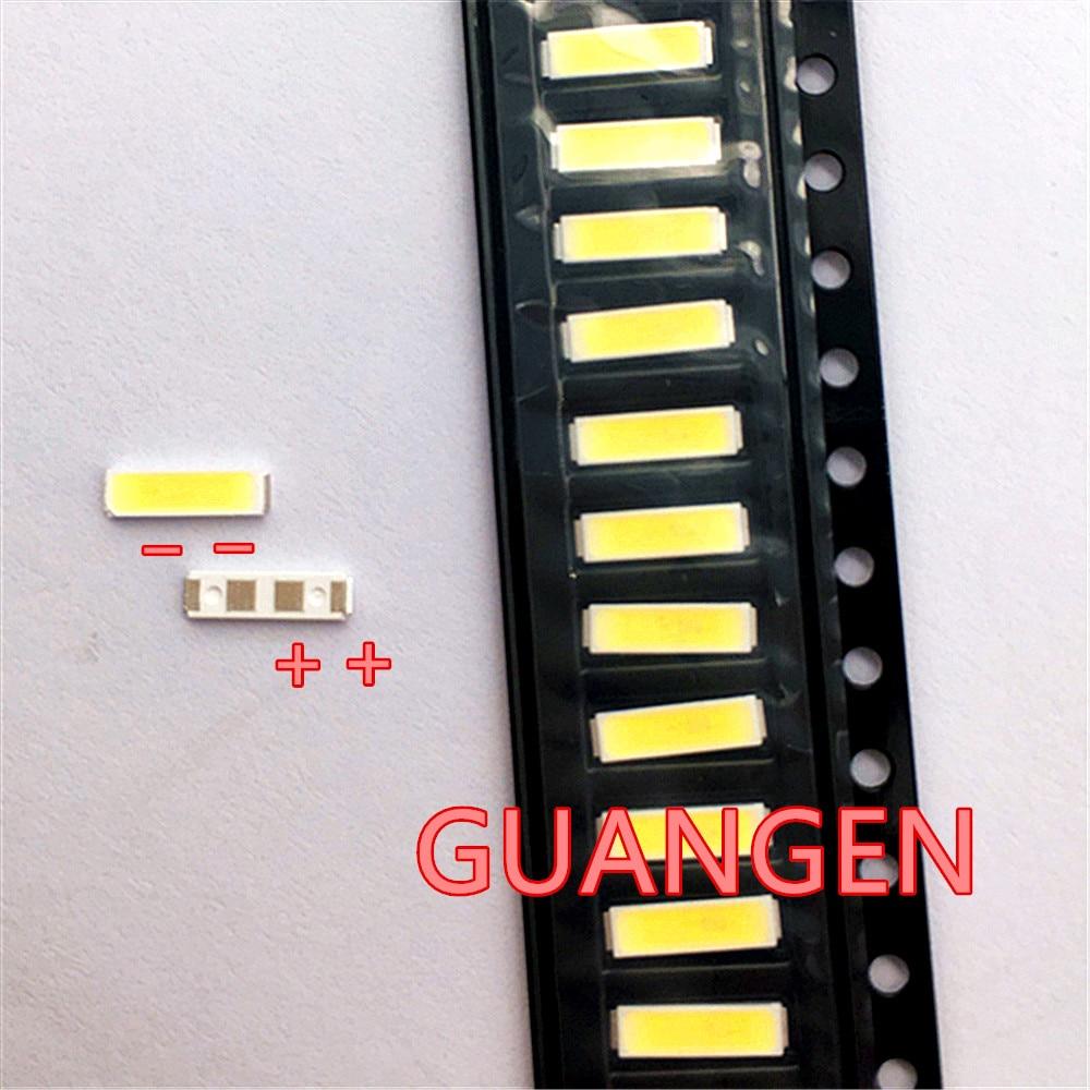 1000 قطعة/الوحدة الأصلي ل Lextar SMD LED 7020 3V 0.5W 50LM الخلفية حبة أبيض بارد ل LCD إضاءة خلفية للتلفاز عالية الجودة