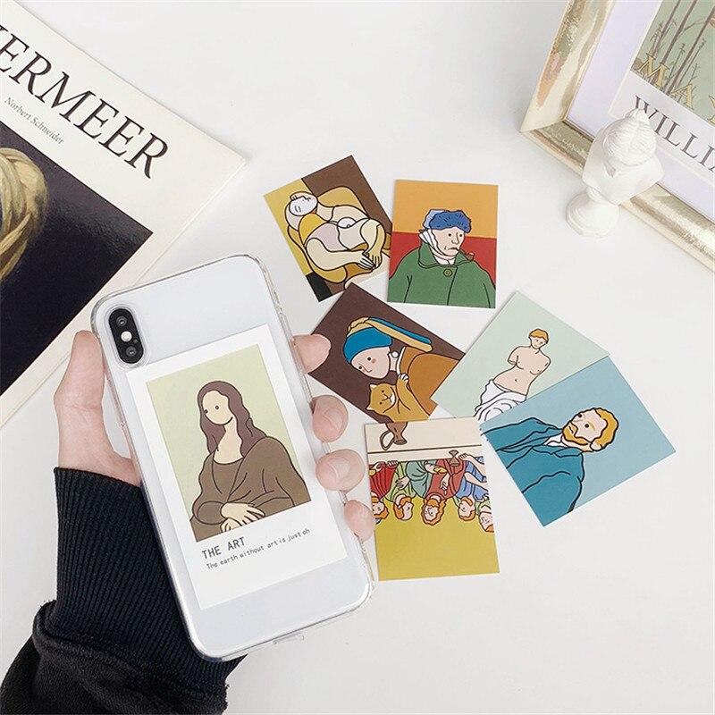 Para o vento frio ins pequeno cartão diy simples cartão transparente macio para iphone x 7 8 plus apple iphone 11pro xs max xr telefone escudo