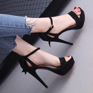 high heels women's shoes bow women shoes high heel sandals platform high heels peep toe pumps ankle strap shoes zapatos de mujer