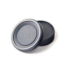 Camera lens body cover + achterste lensdop hood protector voor minolta md mc slr camera en lens