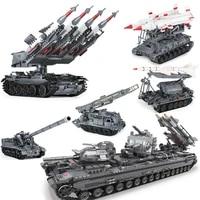 xingbao 06004050107 military series t92 tank sa 3 tank missile 8u218 building blocks bricks toys for children adult figure
