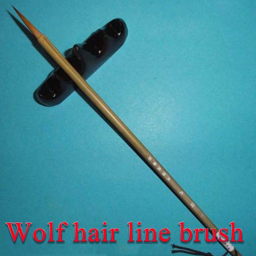 Pelo de lobo pintura cepillo para las líneas de pluma de pincel de caligrafía china pintura arte de