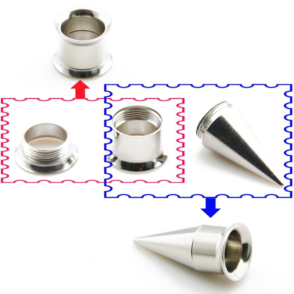 Neue Design 316L Chirurgische Stahl Ohr Tunnel und Taper Kit 6 satz/los (Kann Montiert Werden, Wie Sie Möchten) 2 In 1 Ohr Lehren Expander