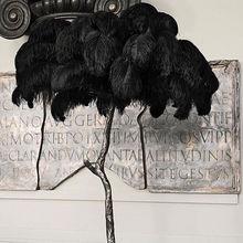 Plumes dautruche noires de 50 pièces   Décorations de mariage, en plumes domar, 15-20cm à 50-55cm de long, bricolage, pour décoration de fête