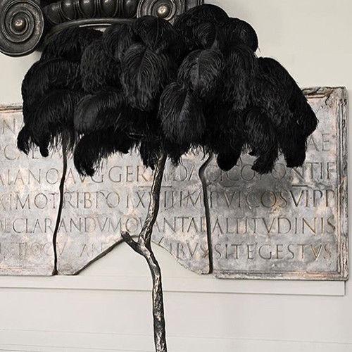 50Pcs Schwarz Straußen Federn Hochzeit Dekoration 15-20cm zu 50-55cm lange DIY ostrich plumes für party dekorationen