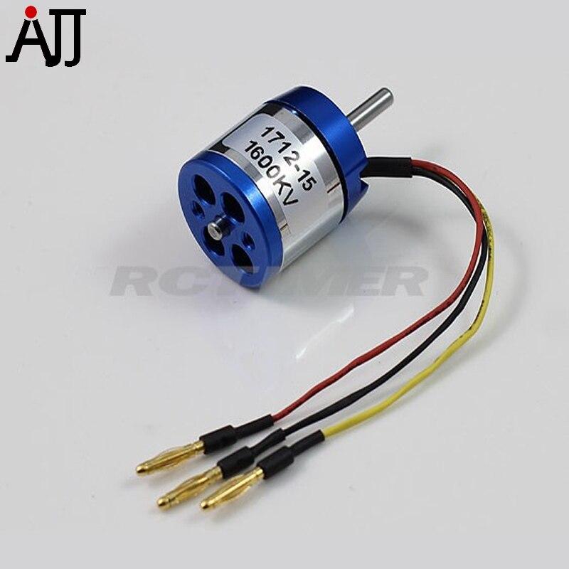 RCTimer BC1712 1600KV 2000KV Outrunner Motor sin escobillas para 2-3S Li-Po Mini FPV Multi-rotor 90W 1712-15