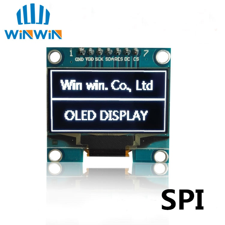 "D13 1 Uds 1,3 ""Módulo OLED color blanco SPI 128X64 OLED de 1,3 pulgadas LCD Módulo De Pantalla LED 1,3"" Comunicación SPI"